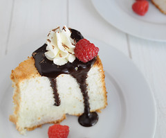 Angel Food Cake (Sugar for the Brain) Tags: cake dessert sweet chocolate whippedcream raspberry treat angelfoodcake