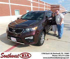 Southwest KIA of Rockwall would like to wish a Happy Anniversary to Rickie Murphree on your 2012 Kia Sorento (Southwest Kia Rockwall) Tags: new southwest car sedan truck wagon happy dallas texas tx used vehicles mesquite bday dfw kia van suv coupe rockwall dealership hatchback dealer customers minvan 4dr metroplex shouts 2dr preowned