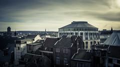 The Divided City (Gilderic Photography) Tags: city sky urban house cinema architecture clouds canon eos raw belgium belgique belgie ciel dome palais 500 cinematic maison liege ville pierreuse gilderic