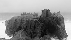 (Stanehyve73) Tags: bw storm castle castles mono coast scotland waves aberdeenshire scottish stormy gale east crown jewels kincardine dunnottar stonehaven kincardineshire