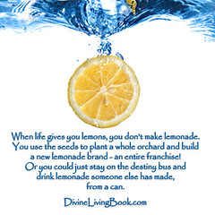 When Life Gives You Lemons Quote (anthonstmaarten) Tags: life joy free happiness lemonade lemons will destiny future thinking reality positive choices psychic optimism decisions enthusiasm negativity manifesting