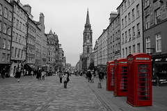 Royal Mile Phone Boxes (StickyToffeeQueen) Tags: scotland edinburgh royalmile phonebox
