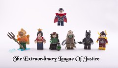 The Extraordinary League of Justice (Hammerstein NWC) Tags: tiara water puddle blog dc lego boobs superman trenchcoat wonderwoman batman cape blogged heroes lantern dccomics superheroes custom greenlantern easton justiceleague steampunk trident ageofsteam aquaman flightsuit theflash batarang haljordan leviathon brothersbrick brickarms mmcb customminifig steampunkjusticeleague divingboots brickwarriors sillof