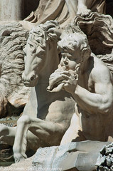 Trevi Fountain, Rome, Italy (.James Brian Clark) Tags: old city travel blue vacation sky urban italy sculpture white man vatican rome roma building male art history classic tourism church