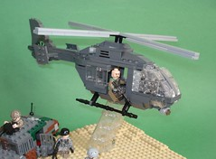 Capturing Bloodhound (4) (Kit Bricksto) Tags: sun tears desert lego bruce special helicopter chase willis diorama forces moc pursue hummvee ec635