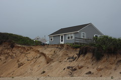 Don't run out the back door... (Pilgrim on this road - Bill Revill) Tags: house seascape building capecod erosion eastham