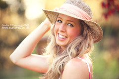 Portrait of Girl in Sun Hat (Sasha L'Estrange-Bell) Tags: summer portrait sun hat sashabell oliviabell sashabellphotography tbsart