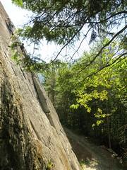 Long way down... (Ruth and Dave) Tags: cliff dog tree rock high geoff branches small vertigo climbing figure granite ruth squamish provincialpark dwarfed climbers crag smokebluffs 510b tunnelrock