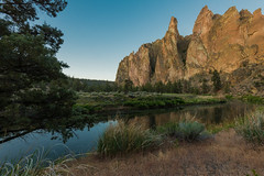 The Crooked at Smith Rock (NW Vagabond) Tags: park oregon reflections dawn state smithrock springtime crookedriver 2013