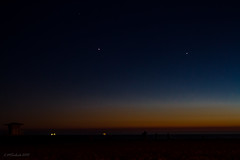 Night Sky @ Huntington Beach (LMSeebeck) Tags: california sunset sky beach canon stars 7d nightsky huntingtonbeach