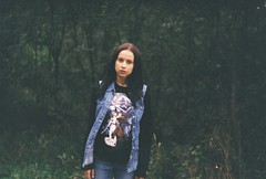(asya_safaryan) Tags: wood brown tree cute green film nature girl fashion forest photography nice awesome denim brun filmphotography streetstyle