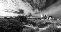 IMG_1224-1234_Pan_bn (Robi Fav) Tags: mare torre corsica natura rocce acqua francia paesaggio vacanze scogli granito macchiamediterranea tourdolmeto