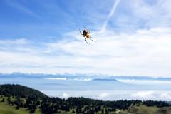 Weaving the sky (Yann_LM) Tags: blue sky mountain green switzerland la fuji spyder fujifilm mont blanc dole x100s