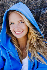 Blue Hoody (jaychemicalltd) Tags: blue portrait people rock female outdoors one clothing women adult longhair shirts blond leisure sweatshirt relaxation youngadult oneperson windblown headandshoulders midadult casualclothing hoodedsweatshirt 20sadult midadultwoman 30sadult lookingatcamera caucasianethnicity 3034years 2529years