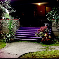 """#purple #stairway • <a style=""""font-size:0.8em;"""" href=""""https://www.flickr.com/photos/61640076@N04/10356880915/"""" target=""""_blank"""">View on Flickr</a>"""