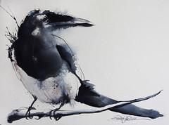 A Bird (Jennifer Kraska) Tags: bird art watercolor jennifer kraska jenniferkraska