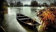Drama (malioli) Tags: city canon river landscape boat town flood croatia whether woodenboat hdr karlovac korana riverkorana