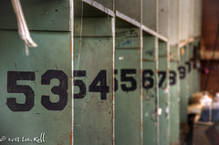 Lockers (rollfilm2) Tags: usa color building green abandoned colors architecture neglect america us factory unitedstates pennsylvania decay places pa numbers northamerica abuse eastcoast urbex buildingsstructure
