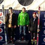 Men's U18 2nd SG Podium at Panorama Keurig Cup - 1. Jack Crawford. WMSC; 2. Peter Fucigna, USA; 3. Mike Gillespie, BAR