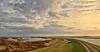 God made the world, but the Dutch made Holland (Wim Koopman) Tags: sky dutch clouds bush view horizon wide delta zeeland wetlands roads dyke dike flatland estuarium krammersluizen
