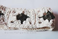 Granny Square Cowl (Crochet Genie) Tags: white scarf square crochet large olive granny thick chunky cowl crochetgenie crochetgeniecom