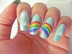 Olá meninas, bom essa é minha nail art de Arco-Íris para o Clube do Esmalte. (VidalGabe) Tags: clubedoesmalte