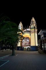 Luna Park, Sydney (RVir5966) Tags: park light sunset night point photo sydney australia luna lunapark nuit milsons australie