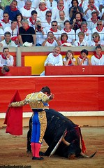 "San Fermín Plaza Toros Bull Ring 25 <a style=""margin-left:10px; font-size:0.8em;"" href=""http://www.flickr.com/photos/116167095@N07/12270080074/"" target=""_blank"">@flickr</a>"
