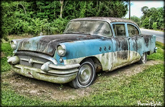 '55 Buick (Photos By Vic) Tags: old blue classic 1955 car buick rust automobile antique neglected rusty northcarolina transportation vehicle 55