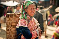 Bac Ha market-vietnam (gemmagrau) Tags: portrait people market vietnam ha ethnic sapa bac mong bacha