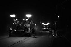 Nachtarbeit (RadarO´Reilly) Tags: nachtarbeit night work strasenbau roadconstruction bauarbeiten constructionwork bauarbeiter constructionworker nacht strase street menschen people schwarzweis sw blackwhite bw iserlohn nrw deutschland germany märkischerkreis monochrome noiretblanc blanconegro zwartwit