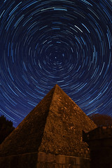 Star Trails from the Great Pyramid at Arklow (Edward Wolohan) Tags: ireland pyramid astrophotography astronomy nightsky wicklow startrails burialground freemason astrophoto arklow earthandspace flickrandroidapp:filter=none
