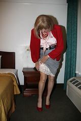 new95748-IMG_6140t (Misscherieamor) Tags: tv feminine cd motel tgirl transgender mature sissy tranny transvestite crossdress ts gurl tg travestis travesti travestie m2f xdresser tgurl slipshowing silkblouse bowblouse