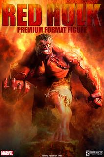 【圖片更新】Sideshow – 暴怒的紅浩克 Red Hulk 雕像作品