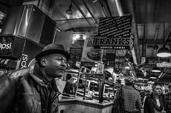 Philadelphia, 2014 (Alan Barr) Tags: street people blackandwhite bw philadelphia monochrome mono blackwhite candid streetphotography sp streetphoto gr ricoh 2014 readingterminalmarket readingmarket