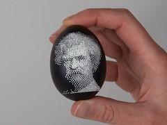 Twain 7 -after removing wax (oskay) Tags: easter eggs batik hotwax eggbot pysanky kistka