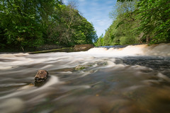 Bothal (Callaghan69) Tags: uk longexposure nature water landscape countryside nikon scenery country northumberland le slowshutter weir northeastengland bothal riverwansbeck northumbrian salmonjump tokina1116 nikond7100 haida10stop bothalsawmillweir