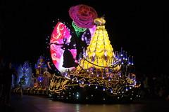 Belle in Paint the Night Parade at Disneyland (GMLSKIS) Tags: california princess disneyland disney parade belle amusementpark anaheim paintthenight