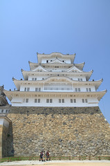Himeji castle from the bottom