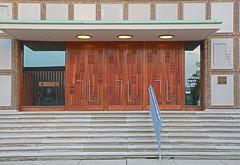 Church Doors (lucepics) Tags: columbus church doors churches first indiana christian modernarchitecture saarinen eliel