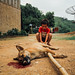 Boy With Dog Killed for Meat, Laos
