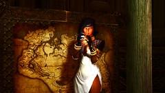 SkyrimSE 2017-03-12 12-04-35 (Xyaran aka Cromer) Tags: skyrim skyrimse skyrimspecialedition elderscrolls windhelm girls warrior booty dress armor vampire night cold skuldafn sword bow