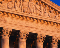 CB006352 (Washington State Association for Justice (WSAJ)) Tags: usa architecture photography washingtondc exterior text columns colorphotography nobody northamerica pillars supremecourt courthouses supports porches midatlantic englishtext cornices judicialbuildings friezes structuralelements porticoes entablatures