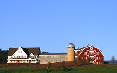 Information Farming in Verona (Also http://www.ipernity.com/home/304321) Tags: wisconsin architecture rural corporate officebuilding verona wi epic redbarn fauxbarn