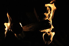 Fire (hayleighelizabeth) Tags: autumn winter orange black fall canon fire log fireplace warm teen bark inside