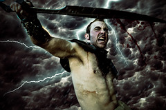 151 (Drummy ) Tags: clouds photoshop project dark fight intense war dramatic battle daily story sword imagination series lightning 365 cinematic scars gladiators drummy drumrollstudios