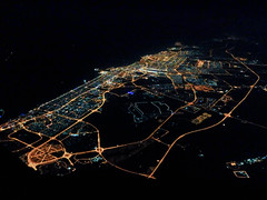 Dubai at nght (Jon Bowles) Tags: city colour night lights dubai fuji aerial x20 landsape