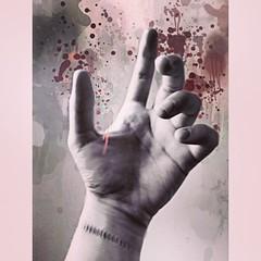 Catastrophe (silenthurricanes) Tags: lyrics blood hands hand stitch random quote stitches aviary stains drips wrist depressing meaningful lyric splashes splashe vsco versaemerge fotolr vscocam