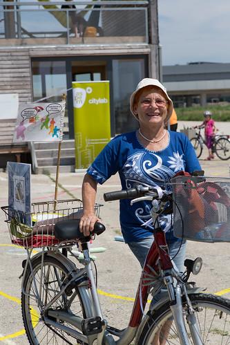 Fahrradpicknick in der Seestadt