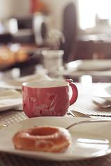 Breakfast (flobero) Tags: cup coffee breakfast donut mug ftw florencesison flothewanderlust